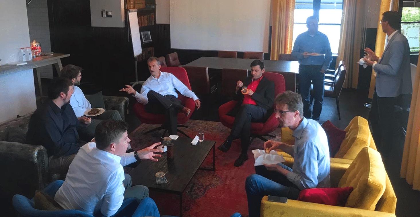 OpEx team in a discussion